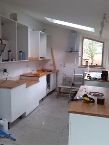 Kitchen taking shape